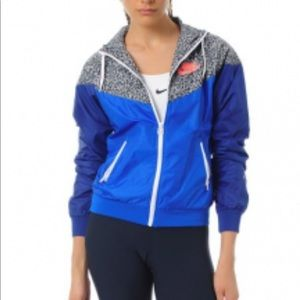 Nike Special edition wind runner blue print jacket